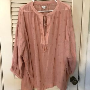 Embroidered Peasant Blouse by Madewell NWT